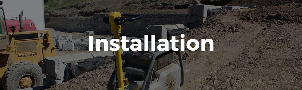 Retaining Walls Installation